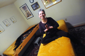 KLG sitting on massage table